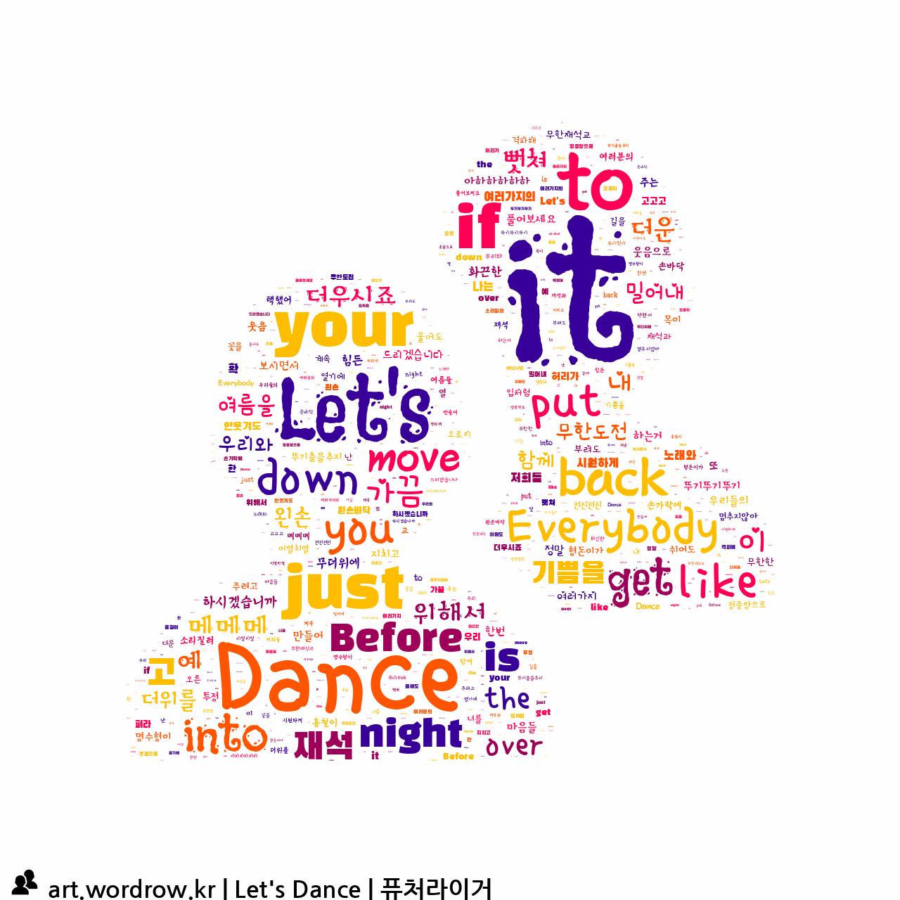 워드 클라우드: Let's Dance [퓨처라이거]-38